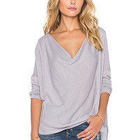 Lucky Day Wrap Tee in Ash Purple