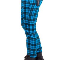 Banned | Blue Tartan Skinny Jeans - Tragic Beautiful buy online from Australia
