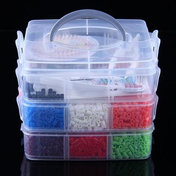 Perler Beads 9000pcs box set of 5mm Hama Beads Fuse Beads 6Template+6 Iron Paper+3 Tweezers jigsaw puzzle diy toy