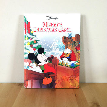 Disney's Mickey's Christmas Carol {1993} Vintage Book