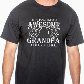 This is what an awesome grandpa looks like. grandfather, gift for grandpa tshirt for dad pregnancy new baby grandfather baby shower