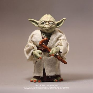 Star Wars Force Episode 1 2 3 4 5 Disney  12cm Toy Master Yoda Darth PVC Action Figure Force Awakens Jedi Yoda Anime Figures Collection Model Dolls Toys AT_72_6