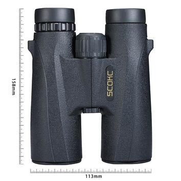 SCOKC 10X42 Compact Binoculars for Bird Watching HD Military Telescope for Hunting and Travel with strap High Clear Vision Black