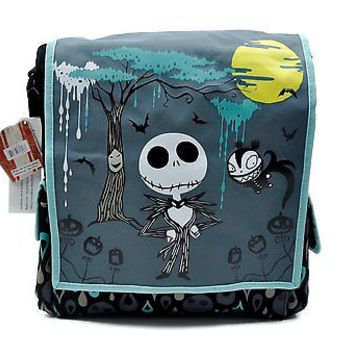 Nightmare Before Christmas Tall Messenger Bag Purse Jack Goth Punk Psychobilly