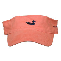 Limited Edition Visor in Washed Coral with Navy Duck by Southern Marsh