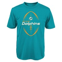 Miami Dolphins Game Icon Dri-Tek Performance Tee - Boys 8-20, Size: