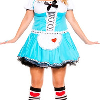 Plus Size Adult Alice in Wonderland Costume