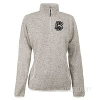 Monogrammed Heathered Fleece Pullover | Marley Lilly