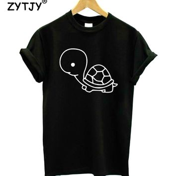 Baby Turtle Print Women tshirt Cotton Casual Funny t shirt For Lady Girl Top Tee Hipster Tumblr Drop Ship Z-1126