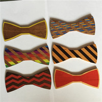 wood bow tie for men new wood color wood tie high quality gift wood bow tie butterfly 1 pcs