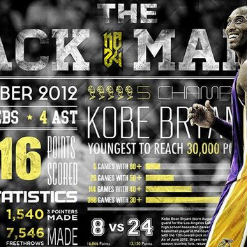 kobe bryant basketball nba poster 5 14  number 1