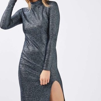 Foil Spot Midi Dress - New In