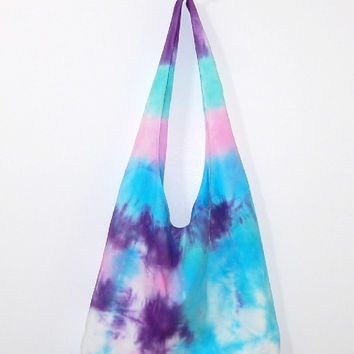 Tie dye purse, tie dye hobo bag, shoulder bag, hobo, slouch bag