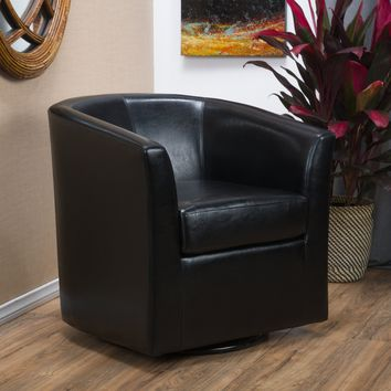 Corley Barrel Club Chair w/ Swivel Seat