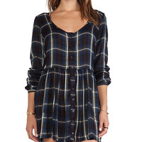 Obey Courtney Dress in Navy