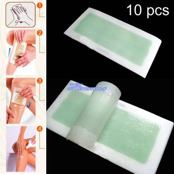 Women Aloe Cold Wax Hair Removal Strips For Leg 0915-50