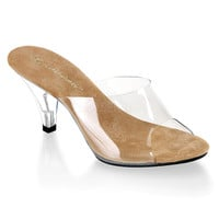 Fabulicious Clear Belle Slipper Slip-On Heels