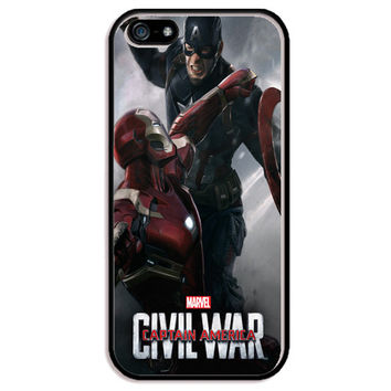 "Captain America vs. Iron Man Civil War Movie Poster TPU+PC Case For Apple iPhone 6/6s (4.7"")"