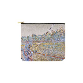 Levi Thang Fishing Design 2 Carry-All Pouch 6''x5''