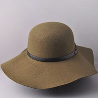 Traveling Abroad Olive Floppy Hat