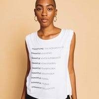 Dismantle the Patriarchy Roll Sleeve Top