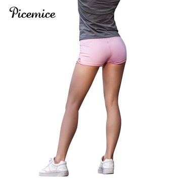 Picemice Women Gym Slim Fit Pole Short Fitness Workout Elastic Yoga Activewear Bottom Compression Breathable Running Shorts