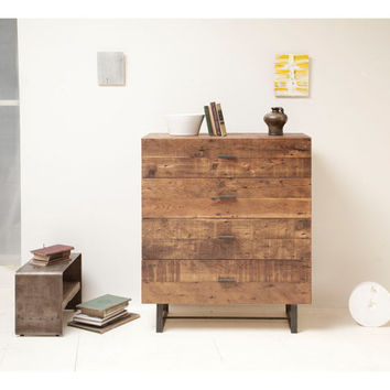 Sustainable, Rustic, Modern.  Naturally Beautiful Four Drawer Chest