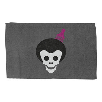 Skull With Afro Rug