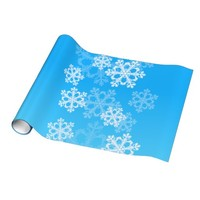 Cute blue and white Christmas snowflakes Gift Wrapping Paper