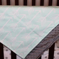 Mint Arrow and Minky Blanket