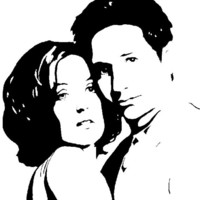 X-Files Mulder and Scully - Original Marker Art - NOT a print - 9x11