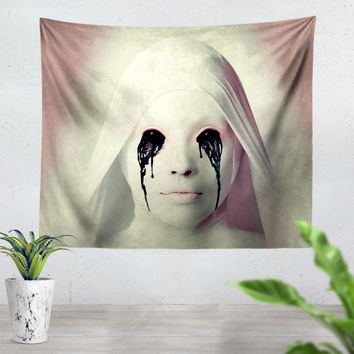 American Horror Story White Nun Tapestry