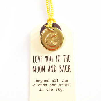 Golden Moon and Back Charm