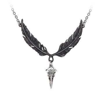 Alchemy Gothic Incrowtation Pendant Necklace Crow Raven Skull