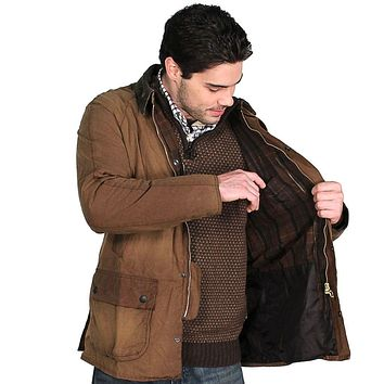 Ashby Washed Jacket in Bark Brown by Barbour