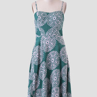 Fields Of Green Midi Dress By Della