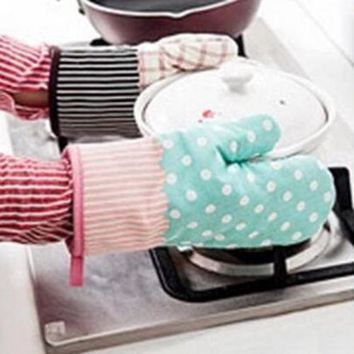 Thermal Insulation Non-slip Baking Cotton Gloves