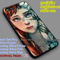 Frozen Anna Elsa Face iPhone 6s 6 6s+ 5c 5s Cases Samsung Galaxy s5 s6 Edge+ NOTE 5 4 3 #cartoon #disney #animated  #frozen dl7