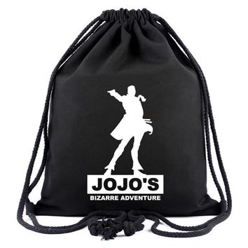 Cool Attack on Titan Hot Style Canvas Drawstring Bags Animation JOJO Bizarre Adventure Assassin's Creed  Gravity Falls Backpack Bag AT_90_11