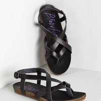 ModCloth Festival Everyday Nonchalance Sandal in Black