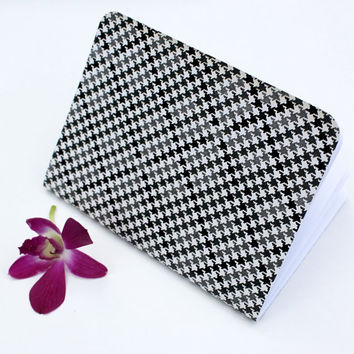 Houndstooth Black White Glossy Matte Texure Traveler's Notebook Journal Stationary Planner Insert Blank Pages Sketchbook