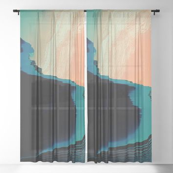 CliffHanger Sheer Curtain by duckyb