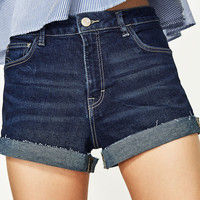 HIGH RISE DENIM SHORTS DETAILS