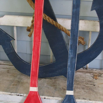OOAK Reclaimed Wood Oars. Custom Oars. Lake Decor. Nautical Decor. Beach Decor. Made to Order