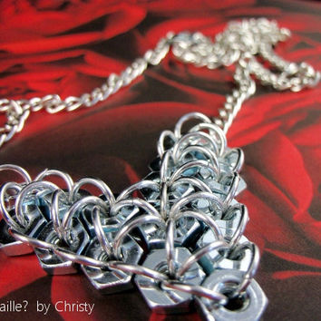 Necklace  Love Is Nuts  Adjustable Heart by GOTMaillebyChristy