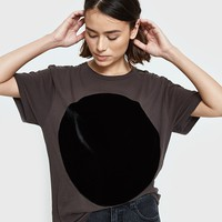 Correll Correll / Velvet Circle T-Shirt in Old Black