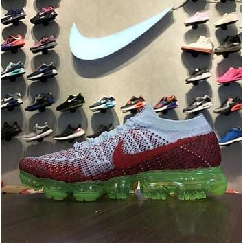 Nike Air VaporMax Flyknit Red White Sport Running Shoes