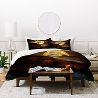 Viviana Gonzalez The Moon and the Tree Duvet Cover