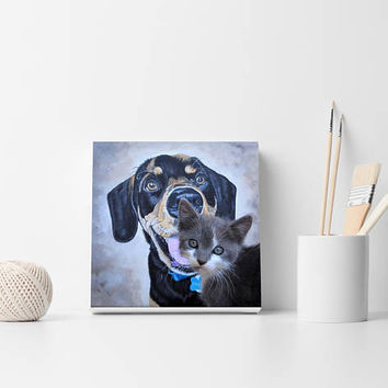 Custom pet portrait Pet painting from photo Custom painting Custom portrait Pet painting Dog painting Cat painting Christmas gift Animal art