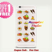 Food Clear Phone Case for iPhone 6 6s plus 6 6s 5s 5 4s 4 , Ctystal Clear iPhone 6 6s Case , Custom Clear iPhone 6 6s Case , Transparent